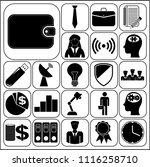 set of 22 business high quality ... | Shutterstock .eps vector #1116258710