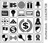 set of 22 business icons ... | Shutterstock .eps vector #1116258728
