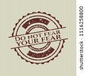 red do not fear your fear... | Shutterstock .eps vector #1116258800