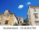 buildings details at hvar in... | Shutterstock . vector #1116261740