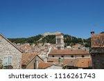 buildings details at hvar in... | Shutterstock . vector #1116261743