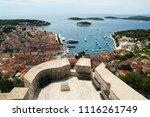 buildings details at hvar in... | Shutterstock . vector #1116261749