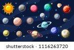 solar system vector cartoon... | Shutterstock .eps vector #1116263720