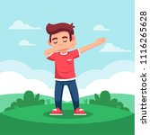 dabbing kid in flat style | Shutterstock .eps vector #1116265628