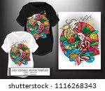 t shirt design japanese style... | Shutterstock .eps vector #1116268343