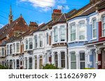 a row of typical british... | Shutterstock . vector #1116269879