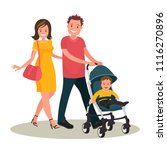 young family. mom and dad are... | Shutterstock .eps vector #1116270896