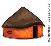 african house with a thatched... | Shutterstock .eps vector #1116271436