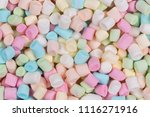 colorful marshmallows as... | Shutterstock . vector #1116271916
