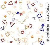 memphis background.  trendy...   Shutterstock .eps vector #1116273620