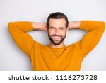 close up portrait of cheerful... | Shutterstock . vector #1116273728