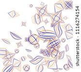 falling geometric figures....   Shutterstock .eps vector #1116274154