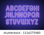 realistic neon font. vector... | Shutterstock .eps vector #1116275480