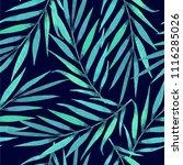 navy blue tropical print | Shutterstock . vector #1116285026