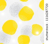 retro background with yellow... | Shutterstock .eps vector #1116287720