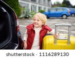 happy toddler boy ready for... | Shutterstock . vector #1116289130