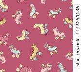 vector roller skates in pastel  ... | Shutterstock .eps vector #1116291536