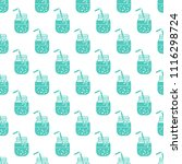 seamless pattern with smoothie...   Shutterstock .eps vector #1116298724