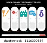 5 vector icons such as cutlery  ... | Shutterstock .eps vector #1116300884