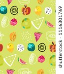 summer colourful pattern for... | Shutterstock .eps vector #1116301769
