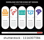 5 vector icons such as ... | Shutterstock .eps vector #1116307586