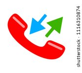 phone sign icon  call center ... | Shutterstock .eps vector #1116310874
