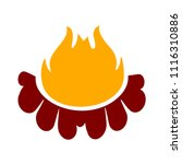 vector fire flames sign... | Shutterstock .eps vector #1116310886
