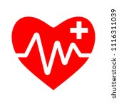 heart icon with add sign ...   Shutterstock .eps vector #1116311039