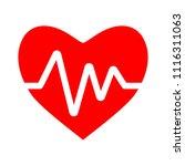 heartbeat symbol  ecg or ekg... | Shutterstock .eps vector #1116311063