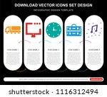 5 vector icons such as delivery ... | Shutterstock .eps vector #1116312494