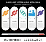 5 vector icons such as... | Shutterstock .eps vector #1116312524