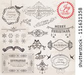 vector set  christmas... | Shutterstock .eps vector #111631358