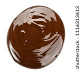 melted chocolate. isolated on... | Shutterstock . vector #1116313613