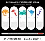 5 vector icons such as drill ... | Shutterstock .eps vector #1116315044