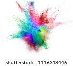 colored powder explosion... | Shutterstock . vector #1116318446