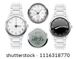 men wrist watch. 3d set. vector ... | Shutterstock .eps vector #1116318770
