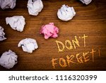 word writing text do not forget ... | Shutterstock . vector #1116320399