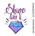 t shirt design for girl with... | Shutterstock .eps vector #1116324416