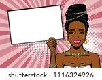 elegance pop art woman wow face.... | Shutterstock .eps vector #1116324926