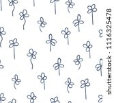 seamless pattern of clover...   Shutterstock .eps vector #1116325478