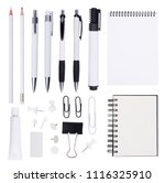 white stationery  isolated on... | Shutterstock . vector #1116325910