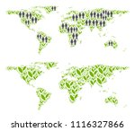 people population and flora... | Shutterstock .eps vector #1116327866