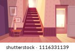 vector interior with staircase... | Shutterstock .eps vector #1116331139