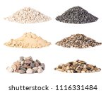 piles of various gravel  stones ... | Shutterstock . vector #1116331484