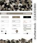 light gray vector ui ux kit in...