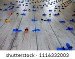 installation of wood style... | Shutterstock . vector #1116332003