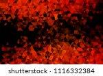 dark orange vector polygonal...   Shutterstock .eps vector #1116332384