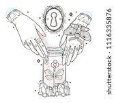 sketch graphic illustration... | Shutterstock .eps vector #1116335876
