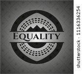 equality black emblem   Shutterstock .eps vector #1116336254