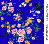 seamless floral pattern in... | Shutterstock .eps vector #1116340469